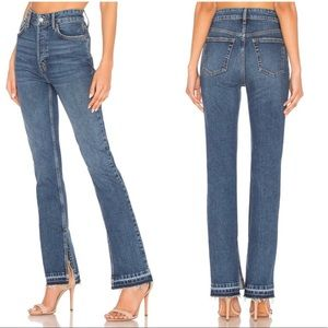 (NWOT) Free People Split Hem Boot Cut Jeans